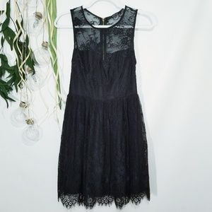 Ark & Co Black Lace Sleeveless Dress Mid Thigh